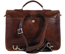 Cenzo Italian Leather Backpack Briefcase Convertible back