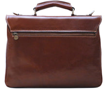 Cenzo Italian Leather Messenger Briefcase Laptop Bag 5