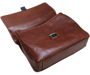 Cenzo Italian Leather Messenger Briefcase Laptop Bag 4