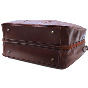 Cenzo Italian Leather Suitcase Duffle Travel Bag 4