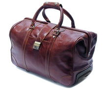 Cenzo Italian Leather Trolley Bag Wheeled Luggage 2