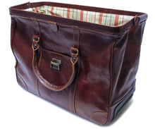 Cenzo Italian Leather Trolley Bag Wheeled Luggage 3