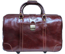 Cenzo Italian Leather Trolley Bag Wheeled Luggage 5