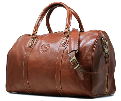 Cenzo Italian Leather Duffle Travel Bag 2
