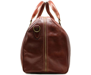 Cenzo Italian Leather Duffle Travel Bag 3
