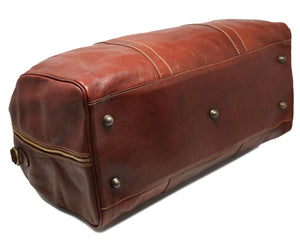Cenzo Italian Leather Duffle Travel Bag 5