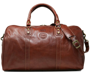 Cenzo Italian Leather Duffle Travel Bag 1