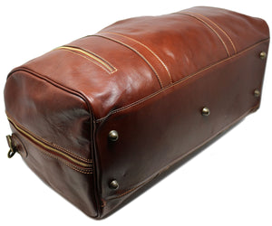 Cenzo Italian Leather Duffle Travel Bag 9