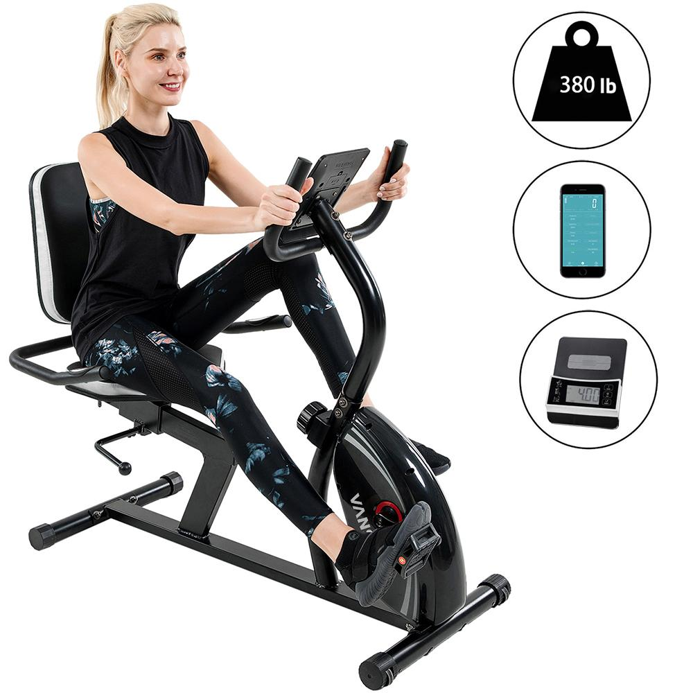 The Best Recumbent Bike With 16-Level (Silver) | Vanswe Fitness Vanswe