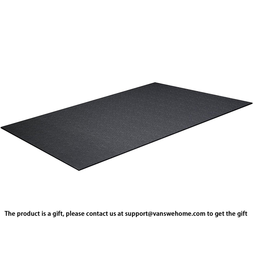 High Density Treadmill Workout Equipment Mat 2-Feet x 4-Feet VansweFitness