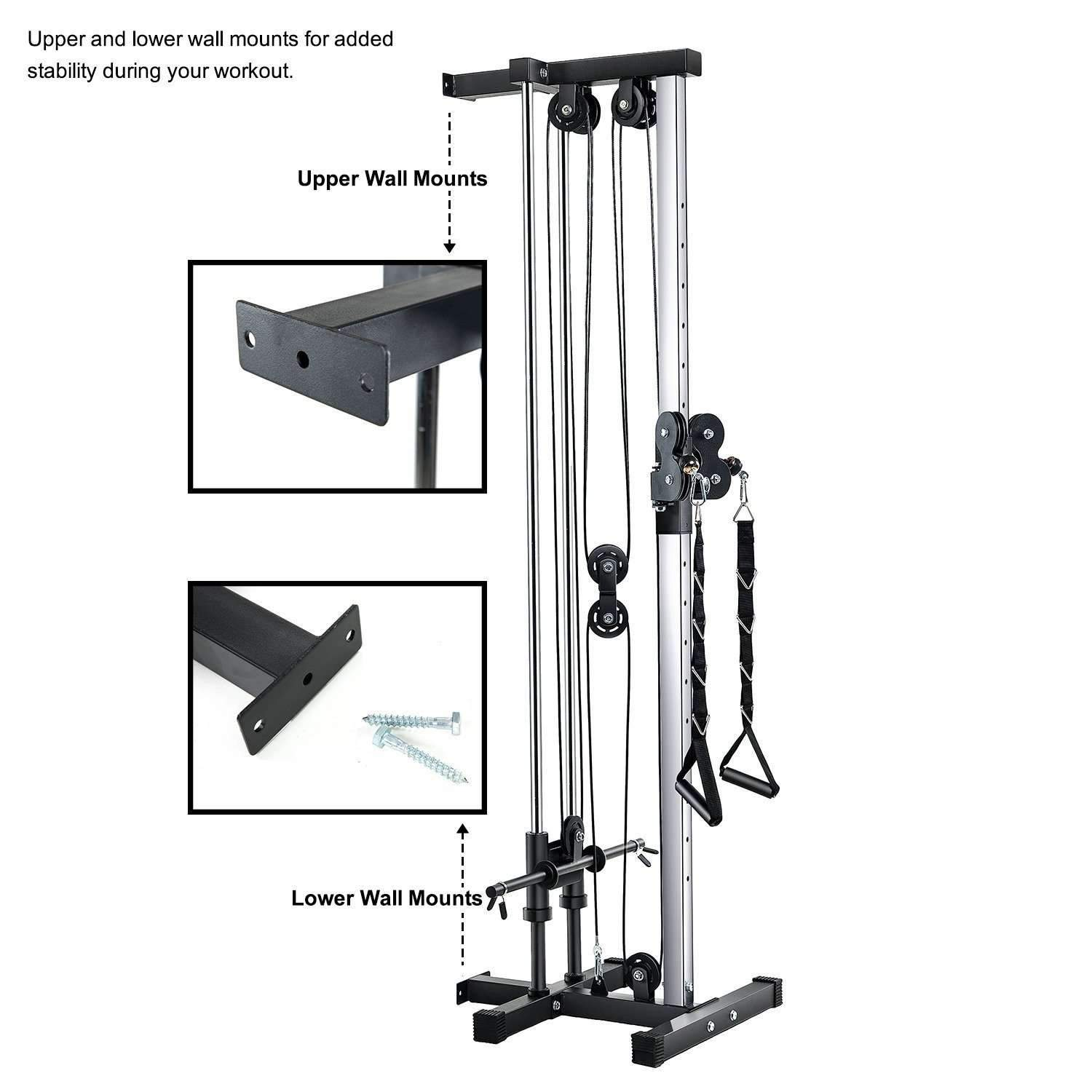 2019 New Homy Gym Wall Mount Cable Station Vanswe