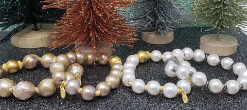 baroque pearl beaded bracelets christmas gift rudyblujewelry