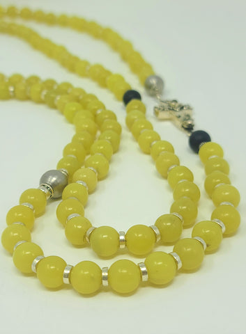 olive jade beaded ultra long necklace rudyblu jewelry