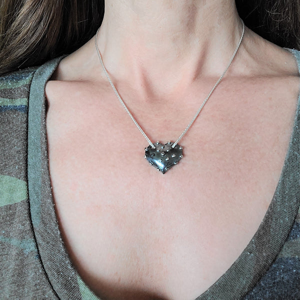 True Grit Silver Heart Necklace