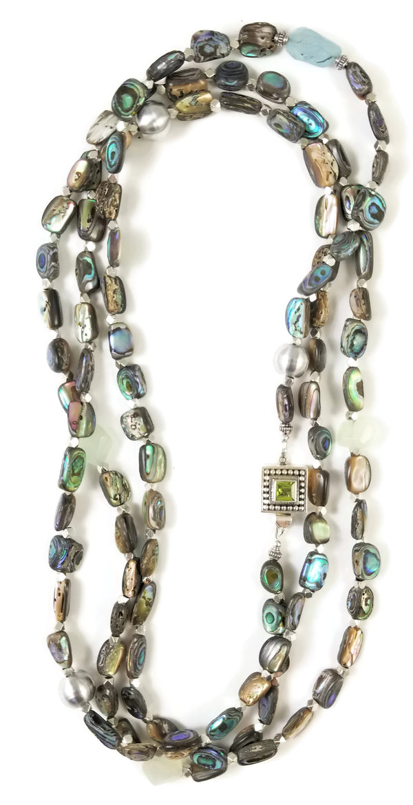 Abalone Long Wrap Necklace