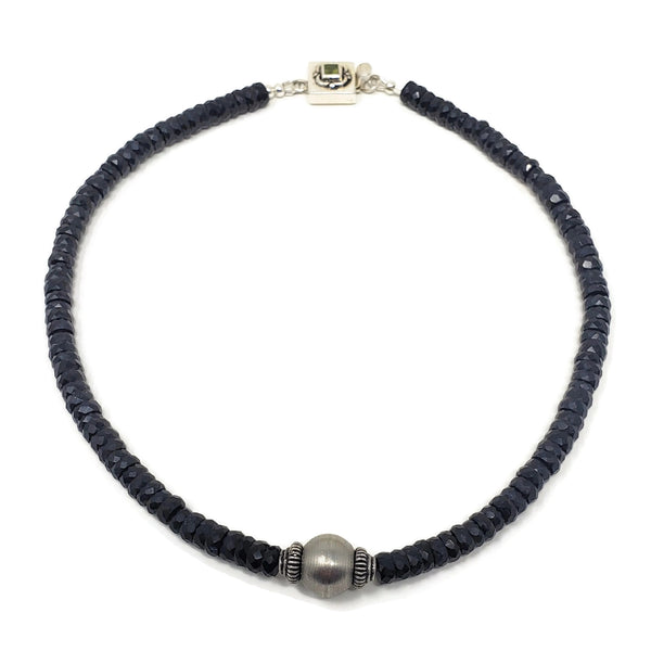 Black Onyx Gemstone Choker Necklace