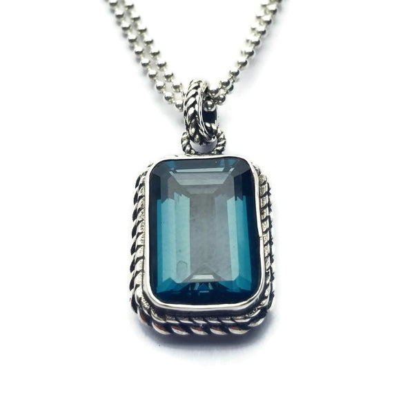 London Blue Topaz Pendant Necklace