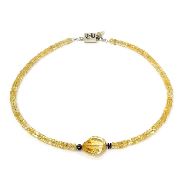 Citrine Gemstone Choker Necklace