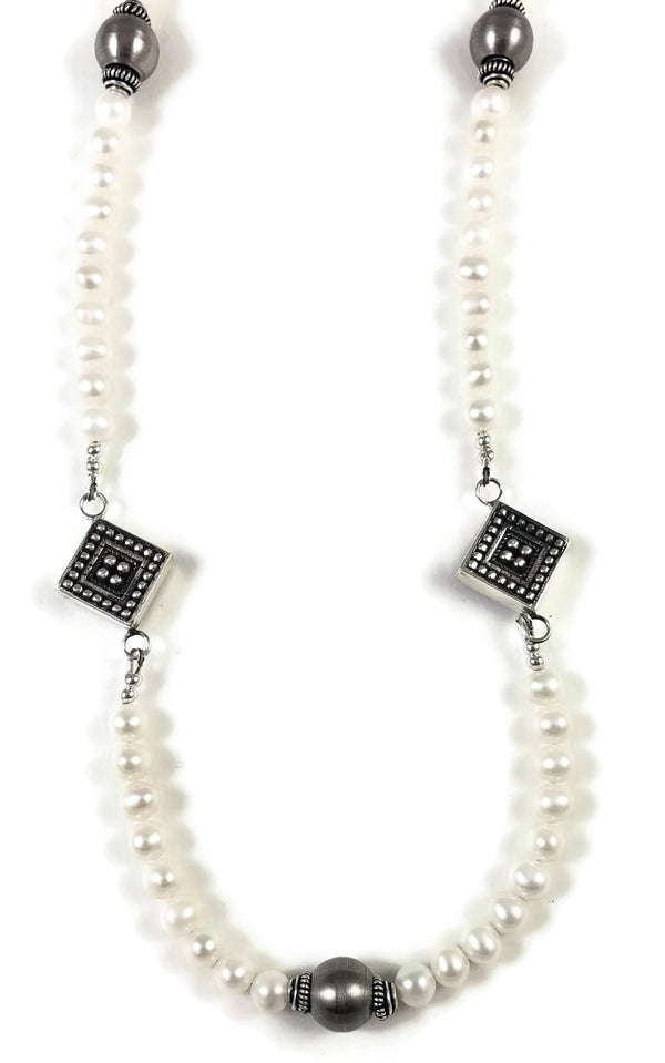 Elegance Long Pearl Necklace