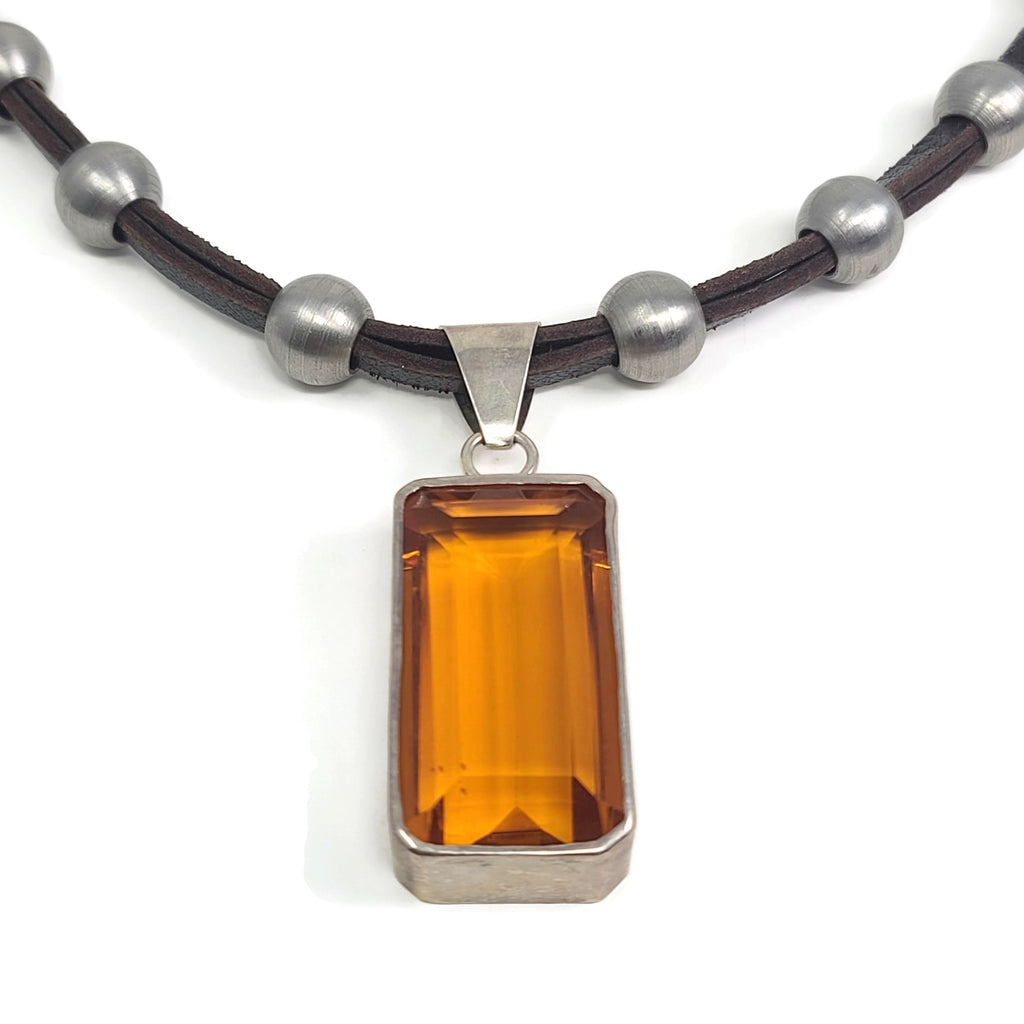 OOAK - Madeira Citrine Pendant Necklace