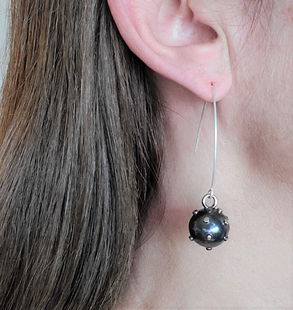 True Grit Ball Hook Earrings