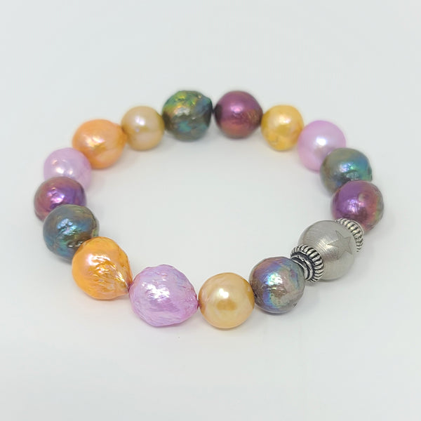 Pastel Colors Edison Pearl Stretch Bracelet