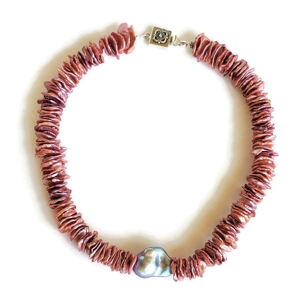 Pink Keishi Pearl Necklace