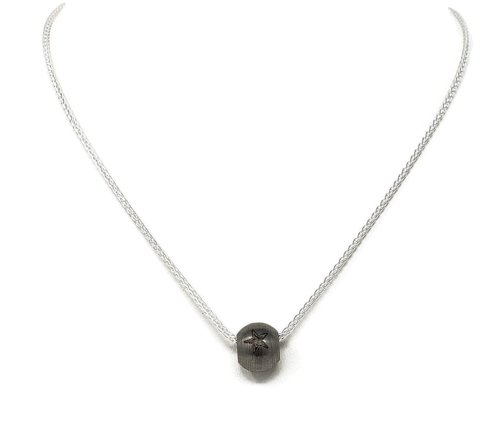 Stainless Steel RB Bead Necklace