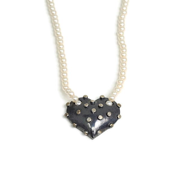 True Grit Heart Pearl Necklace