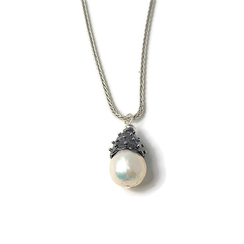 True Grit White Pearl Pendant Necklace
