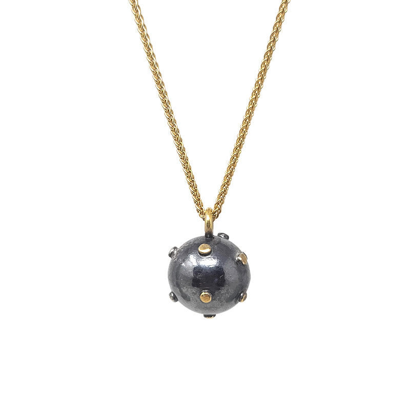 Gold Wrecking Ball Necklace