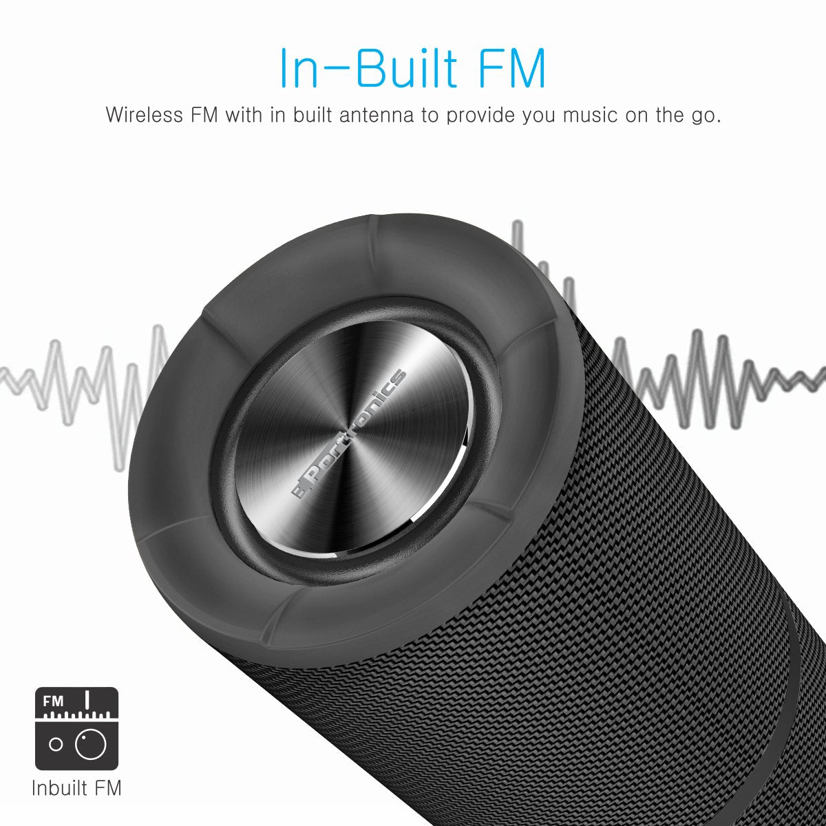 aed1ff71495 Portronics POR-795 Breeze Bluetooth 4.1 Wireless Stereo Speaker with FM  Tuner