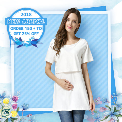 【Buy One Get One Free】Super Hot Loose & Comfortable Breastfeeding T-Shirt