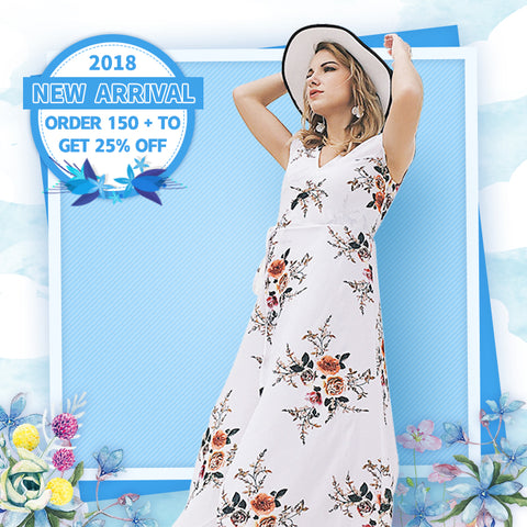 【New Arrival】2018 New Long Printed Maxi Dress【Second 50% Off】