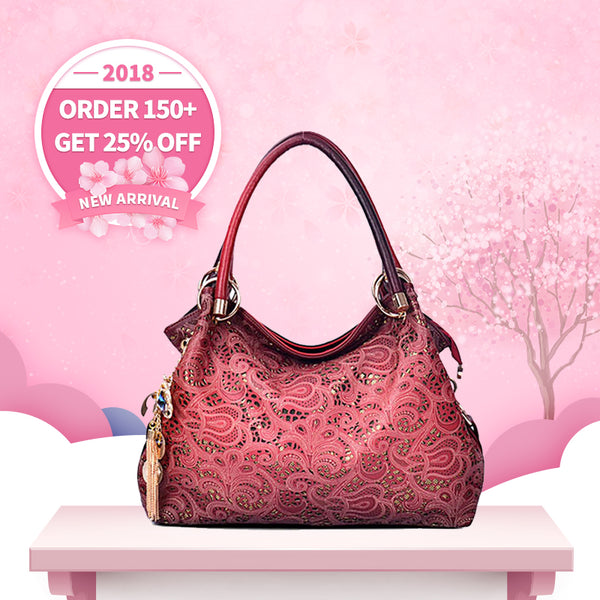2018 New Arrival North American Carved Hollow Lady Bag