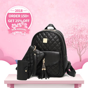 New Arrival Classic Flap Backpack Bags Set