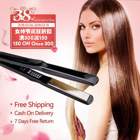 【Buy One 69 Add 30 Get Two】MAGIC!!! Electric Tourmaline Ceramic Hair Straightener【Crazy Discount Ever】