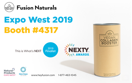 Fusion Naturals' Vegan Collagen Booster NEXTY's finalist for Best New Supplement