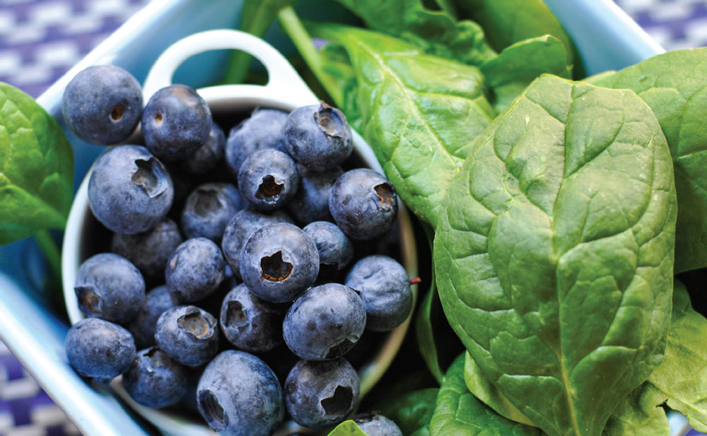 blueberry and spinach