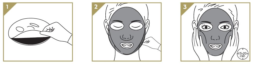steps to use facial mask