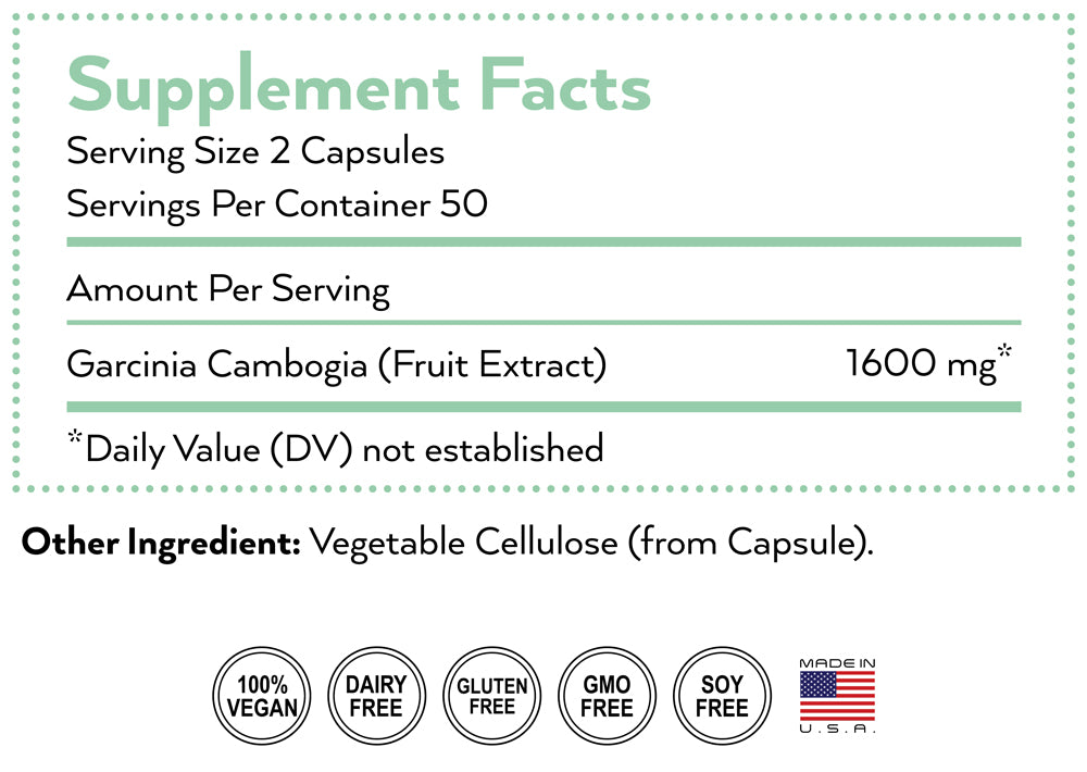 garcinia cambogia supplement nutrition facts