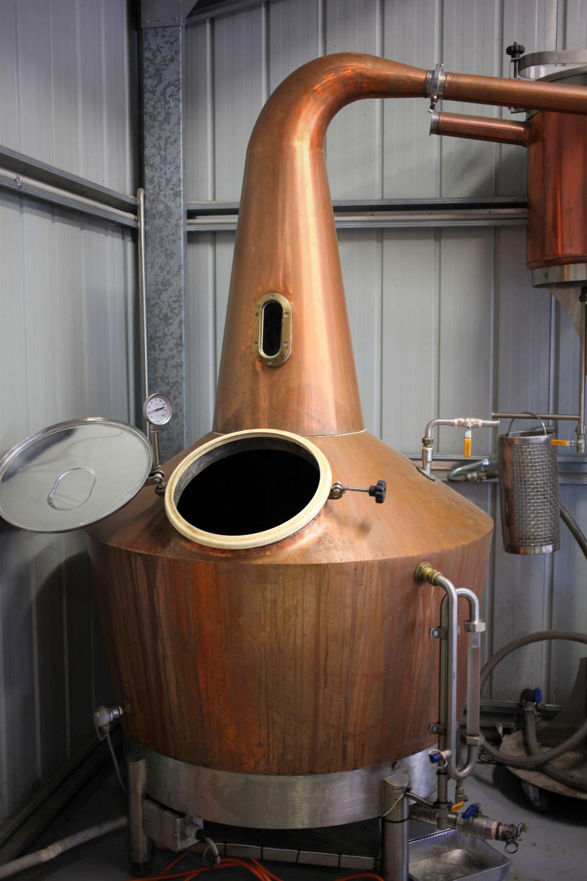 Karu Distillery's Copper Pot Still Calcifer