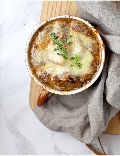 The BEST Vegan French Onion Soup