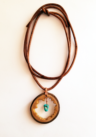 Organic Cutout Hanging Turquoise -- A