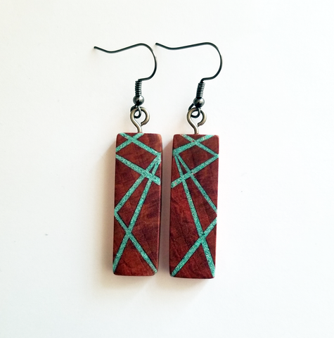 Redwood Turquoise Inlay