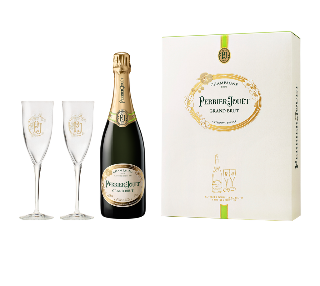 Perrier-Jouët Grand Brut Gift Box With Flutes