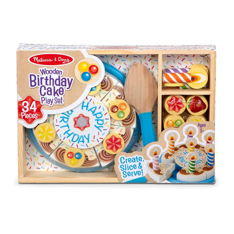Melissa & Doug Birthday Party - Wooden Play Food 3 years+