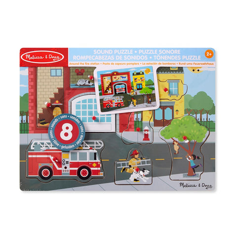 Melissa & Doug Around the Fire Station Sound Puzzle 2 years+