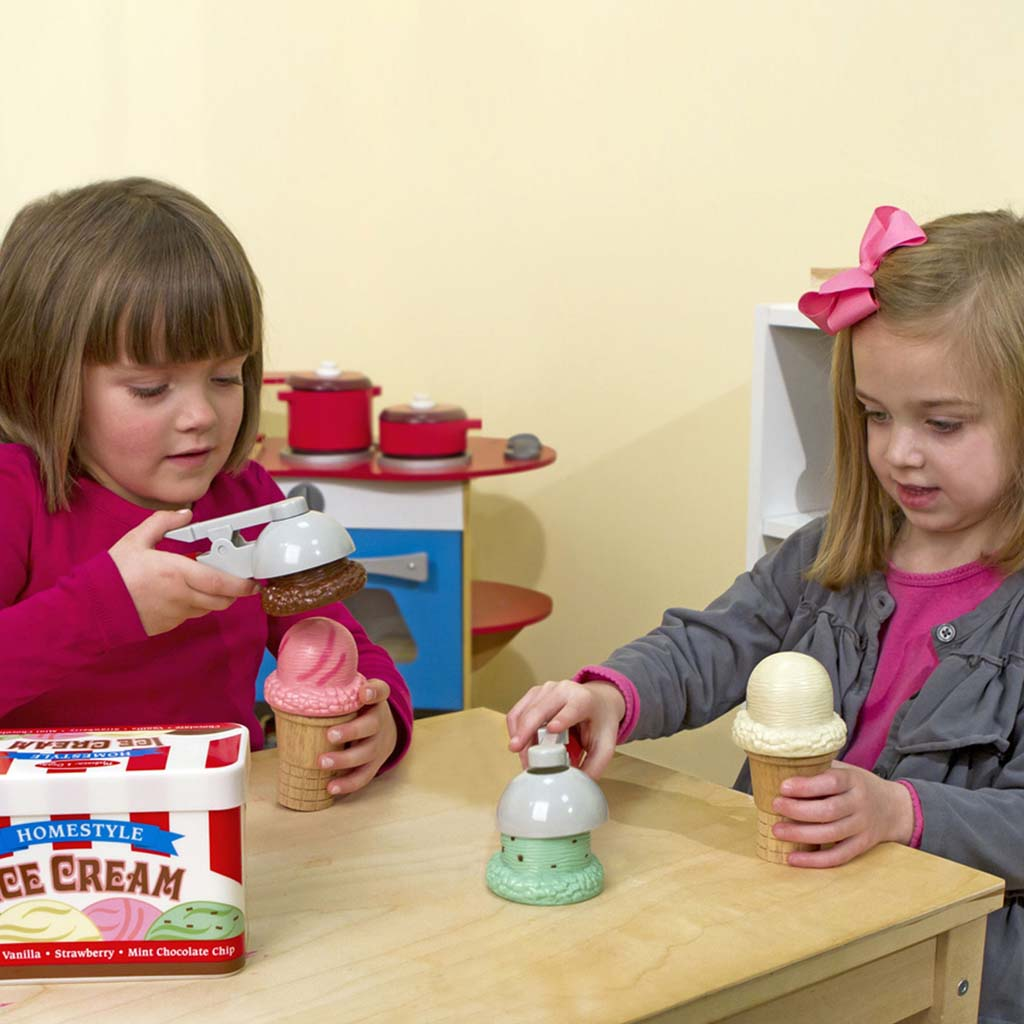Melissa and Doug Play Food - Ice Cream Set