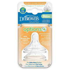 Dr Brown's Wide Neck Silicone Options+ Nipple 2 pack